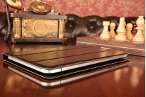 Чехол с вырезом под камеру для планшета Cube iWork8 3G (U80GT-3G) с дизайном Smart Cover ультратонкий и лёгкий. цвет в ассортименте