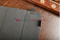 """Чехол-книжка для планшета с диагональю 10.1 дюймов синий натуральная кожа """"Deluxe"""" Италия"""
