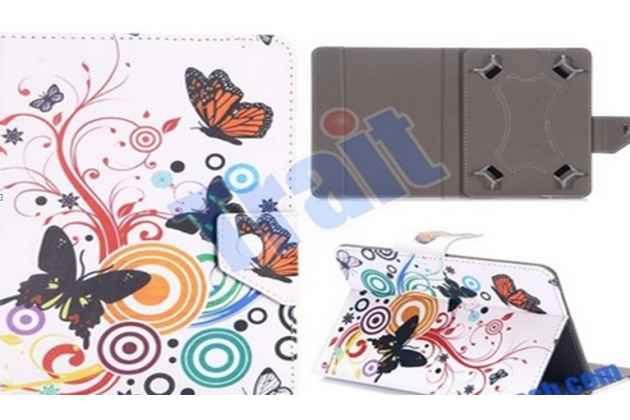 """Уникальный необычный эксклюзивный чехол с рисунком """"радужные Бабочки"""" для планшетов с диагональю 7.0 дюймов. Только в нашем магазине. Количество ограничено"""