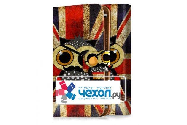 """Уникальный необычный чехол с рисунком """"ретро Британский флаг Сова"""" для телефонов с диагональю 4.3/ 4.5/ 4.7 дюймов. Только в нашем магазине. Количество ограничено"""