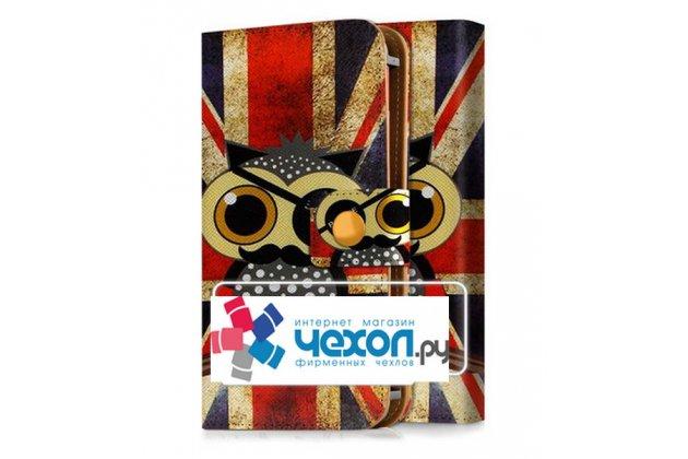"""Уникальный необычный чехол с рисунком """"ретро Британский флаг Сова"""" для телефонов с диагональю 5.0/ 5.2/ 5.3/ 5.5 дюймов. Только в нашем магазине. Количество ограничено"""