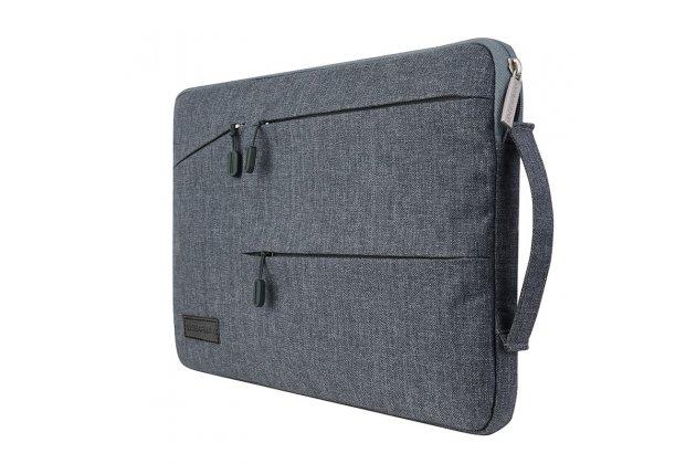 Чехол-сумка-бокс для CHUWI Hi12 с отделением для дополнительных аксессуаров из высококачественного материала серого цвета