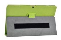 Фирменный чехол с красивым узором для планшета CHUWI Hi 12 зеленый натуральная кожа Италия