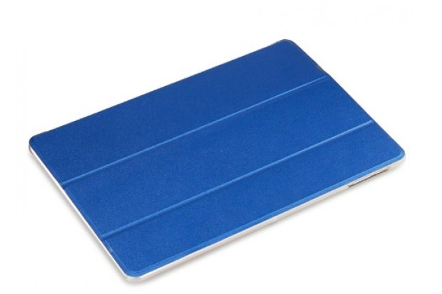 Фирменный ультра-тонкий чехол-футляр-книжка для CHUWI Hi 12 синий пластиковый