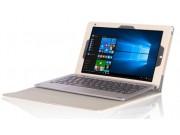 Фирменный чехол 2-в-1 для планшета и клавиатуры CHUWI HiBook / HiBook Pro 10.1 золотой кожаный..