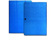Фирменный чехол-футляр-книжка для  CHUWI HiBook / HiBook Pro 10.1 синий кожаный