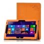 Фирменный чехол с красивым узором для планшета CHUWI HiBook / HiBook Pro 10.1 оранжевый натуральная кожа Итали..