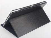 Фирменный оригинальный чехол обложка с подставкой для CHUWI HiBook / HiBook Pro 10.1 черный кожаный..