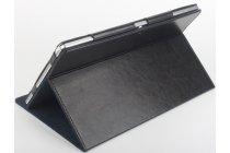 Фирменный оригинальный чехол обложка с подставкой для CHUWI HiBook / HiBook Pro 10.1 черный кожаный