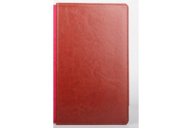 Фирменный оригинальный чехол обложка с подставкой для CHUWI HiBook / HiBook Pro 10.1 коричневый кожаный