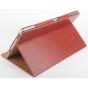 Фирменный оригинальный чехол обложка с подставкой для CHUWI HiBook / HiBook Pro 10.1 коричневый кожаный..
