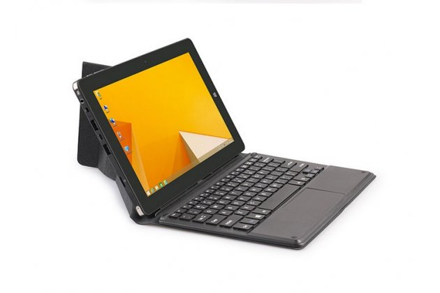 """Фирменный оригинальный чехол со съёмной Bluetooth-клавиатурой и тачпадом для Chuwi vi10 10.6"""" черный кожаный + гарантия"""