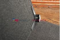 Чехол-обложка для CROWN B855 черный кожаный