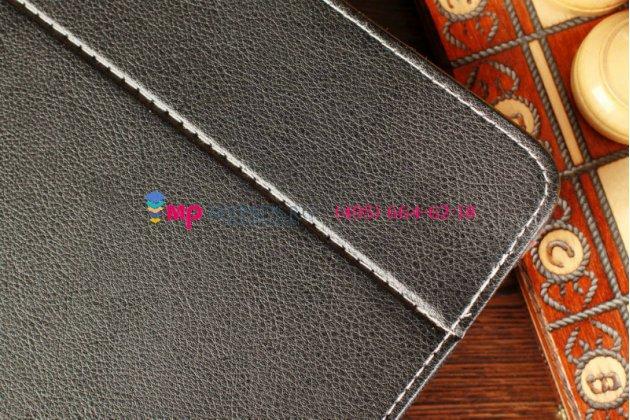 Чехол-обложка для CROWN B860 черный кожаный