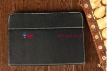 Чехол-обложка для CROWN B988 черный кожаный
