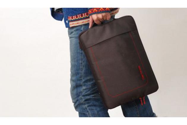 Чехол-сумка  для Cube Mix Plus с отделением для дополнительных аксессуаров из высококачественного материала коричневая