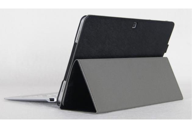 Фирменный оригинальный чехол для Cube Mix Plus с отделением под клавиатуру черный кожаный