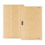 Фирменный чехол-футляр-книжка для Cube i10 10.6 золотой кожаный..