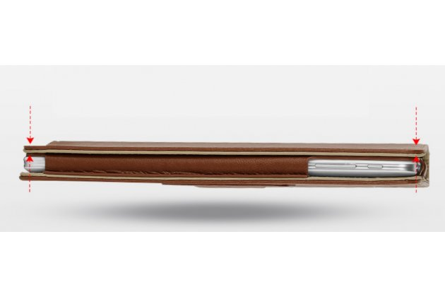 """Чехол-обложка для Cube iWork8 Air (U82GT) 8.0"""" коричневый кожаный"""