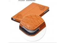 """Фирменный чехол с красивым узором для планшета Cube iWork8 Air (U82GT) 8.0"""" оранжевый натуральная кожа Италия"""