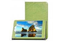 """Фирменный чехол с красивым узором для планшета Cube iWork8 Air (U82GT) 8.0"""" зеленый натуральная кожа Италия"""
