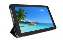 """Фирменный ультра тонкий чехол для Cube Talk11 (U81GT-3G) 10.6""""  черный из кожаный"""