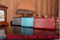 Фирменный роскошный эксклюзивный чехол-клатч/портмоне/сумочка/кошелек из лаковой кожи крокодила для телефона DEXP Ixion EL350 Volt. Только в нашем магазине. Количество ограничено