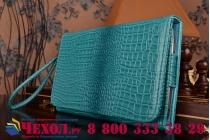 Фирменный роскошный эксклюзивный чехол-клатч/портмоне/сумочка/кошелек из лаковой кожи крокодила для планшета DEXP Ursus TS370. Только в нашем магазине. Количество ограничено.