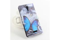 """Фирменный уникальный необычный чехол-книжка для DOOGEE NOVA Y100X """"тематика радужные Бабочки"""""""