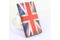 """Фирменный уникальный необычный чехол-книжка для DOOGEE T6 """"тематика Британский флаг"""""""