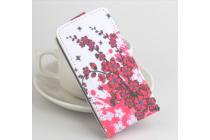 """Фирменный вертикальный откидной чехол-флип для DOOGEE X6/ X6 Pro   """"тематика Цветок Вишни"""""""