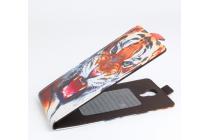 """Фирменный вертикальный откидной чехол-флип для DOOGEE X6/ X6 Pro """"тематика Тигр"""""""