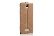 Фирменный вертикальный откидной чехол-флип для DOOGEE X6/ X6 Pro коричневый