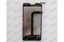 Фирменный LCD-ЖК-сенсорный дисплей-экран-стекло с тачскрином на телефон Doogee DG700 черный + инструменты для вскрытия + гарантия