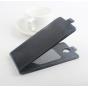"""Фирменный оригинальный вертикальный откидной чехол-флип для Doogee Dagger DG550 черный из натуральной кожи """"Prestige"""" Италия"""