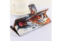 """Фирменный уникальный необычный чехол-подставка с визитницей кармашком на Doogee Dagger DG550  """"тематика Тигр"""""""
