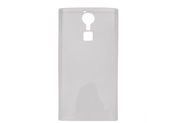Фирменная ультра-тонкая полимерная из мягкого качественного силикона задняя панель-чехол-накладка для Doogee F5 белая
