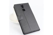 Фирменный чехол-книжка из качественной импортной кожи с подставкой застёжкой и визитницей для Дуги Ф5 черный