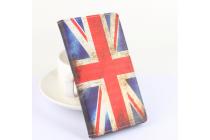 """Фирменный уникальный необычный чехол-книжка для Doogee F5 """"тематика Британский флаг"""""""