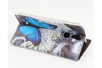 """Фирменный уникальный необычный чехол-книжка для Doogee F5 """"тематика радужные Бабочки"""""""