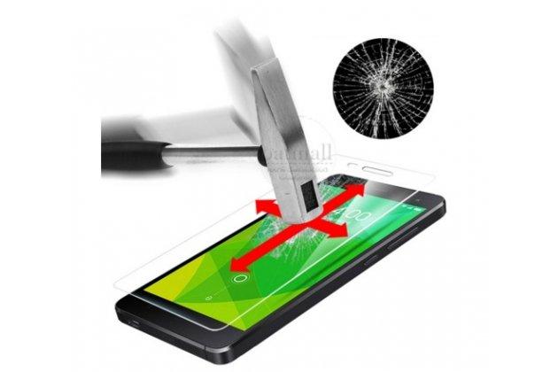 Фирменное защитное закалённое противоударное стекло премиум-класса из качественного японского материала с олеофобным покрытием для Doogee F5