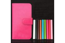 Фирменный чехол-книжка для DOOGEE X3 с визитницей и мультиподставкой черный кожаный