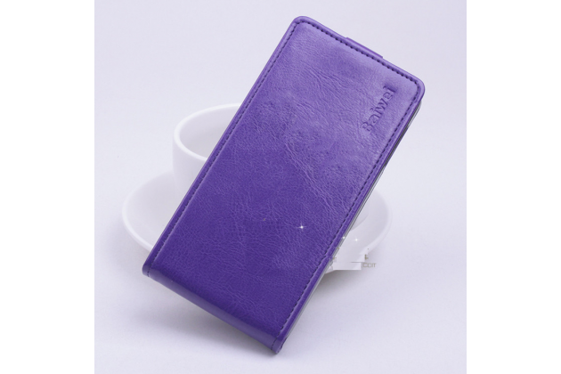 Фирменный вертикальный откидной чехол-флип для DOOGEE Y100 Plus Valencia2 фиолетовый