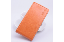 Фирменный вертикальный откидной чехол-флип для DOOGEE Y100 Plus Valencia2 оранжевый
