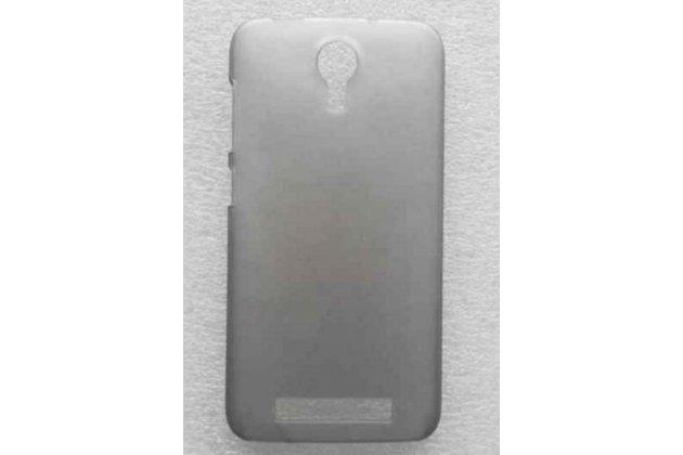 Фирменная задняя панель-крышка-накладка из тончайшего и прочного пластика для Doogee Valencia2 Y100 Pro  прозрачная