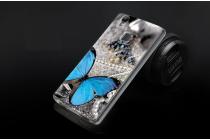 """Фирменная уникальная задняя панель-крышка-накладка из тончайшего силикона для Doogee X5 MAX с объёмным 3D рисунком """"тематика Бабочка"""""""