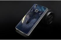 """Фирменная уникальная задняя панель-крышка-накладка из тончайшего силикона для Doogee X5 MAX с объёмным 3D рисунком """"тематика Волк"""""""