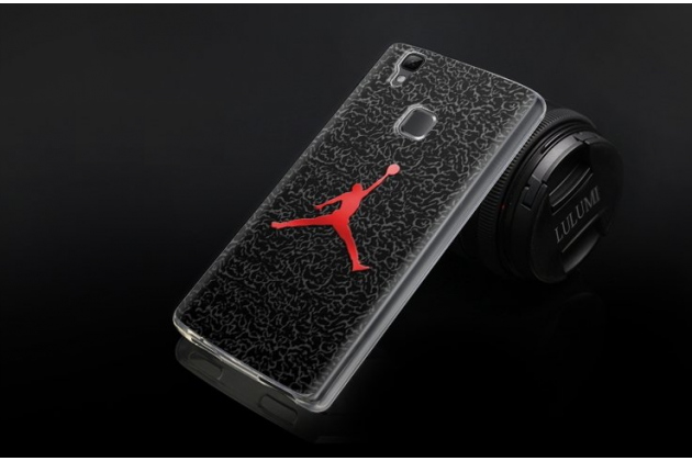 """Фирменная уникальная задняя панель-крышка-накладка из тончайшего силикона для Doogee X5 MAX с объёмным 3D рисунком """"тематика NBA"""""""