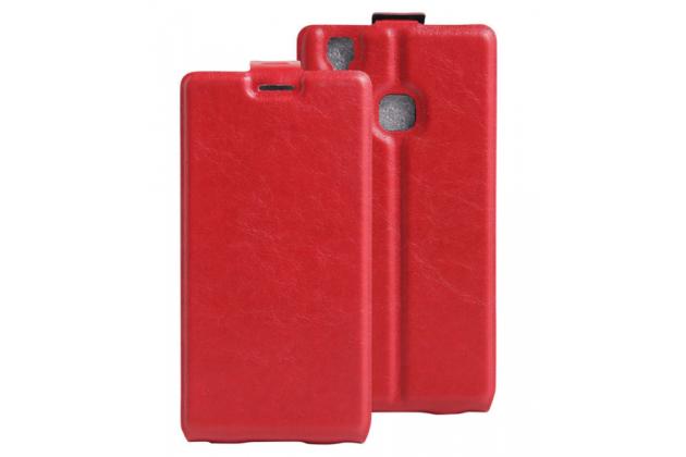 """Фирменный вертикальный откидной чехол-флип для Doogee X5 MAX/X5 MAX Pro"""" красный"""