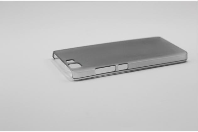 Фирменная задняя панель-крышка-накладка из тончайшего и прочного пластика для Doogee X5 / X5C / X5 Pro черная